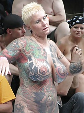 Tattooed and Pierced MILF