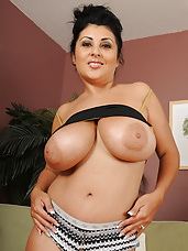Finished with her housework Jaylene begins to work on her big tits