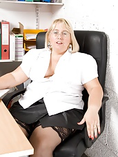 Lexi has a dildo play at her office