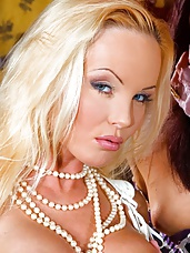 Blonde fetish booty babe in various scenes