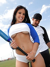 Super hot ass booty shots baseball babe nailed hard in these power fucking park sex pics