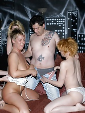 What a night this was! Sexy Donna, Shelly and Neomy got together with a couple of dudes at their local swingers club. Then they fucked the shit out of them!!!