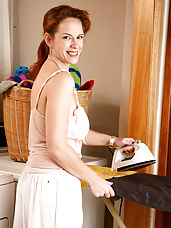 Redheaded MILF Megan from AllOver30 decides to strip just for you