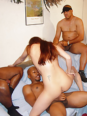 Aimee said she loved big black cocks, but she didn't know about having 4! When our guys show up, it's surprising that she didn't seem to mind. Watch as 4 big black cocks pound Aimee's sweet little ass!
