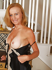 Kate from AllOver30 strips off her lacey lingerie in these pictures