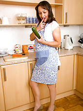 45 year old Carla proves a cucumber is not only good in salad