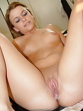 Girl enjoying after her first time Creampie