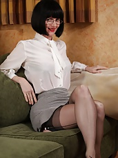 Corsetted secretary strips for you