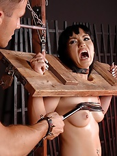 Bound gagged and a BJ