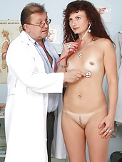 Radoslava mature gynoclinic gynochair pussy pussy opener checkup