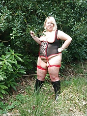 Lexie out in the woods