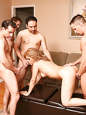 "Cherrie Rose in ""5-Guy Cream Pie"""