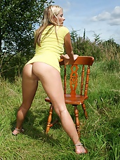 British pornstar KazB dressed in a sexy little minidress and wanting to take it all off and go nude and eu naturelle! The birds were tweeting, the air was fresh and my fanny was juicy!