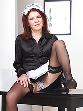 Mature housemaid feeling horny at work
