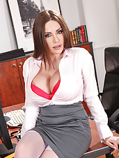 Anal action in the office!