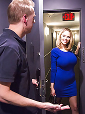 I can't believe that Katie Kox is back in the business. I gave her a call as soon as I found this out. Her tit's are so much bigger than I remember, which is a good thing. Well Katie and her huge tits are mine for the night. She pays excellent attention, does what she is told, and pleases my cock like no other. I make sure those nice huge tits get a nice huge load on them.