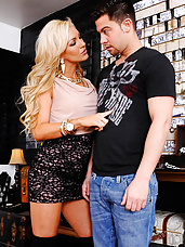 Cameron Dee is a naughty rich girl who stops by a store cause she needs to pick up some jewelry for her night out. The problem is that this store doesn't have the fancy gold jewelry she's used to. After she looks around for a while she realizes she's not going to find the jewelry that she's looking for. She would hate to leave the store empty handed though, and the sales guy is pretty cute, so she makes sure to fuck his cock dry and leave the store with a mouthful of his cum.