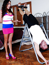 Ariella Ferrera stops by to visit her friend, but her friend is out so she decides to hang out with her friend's husband instead. Ariella has heard lots of things about him from her friend, like what a big dick he has and what a great fuck he is. Since they're alone, Ariella decides that it's the perfect time to take a look at that giant dick of his. Once she has his cock out she has to see for herself what a great fuck he really is. He definitely lived up to his name.