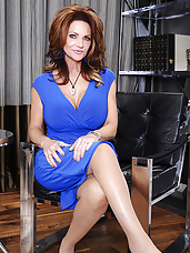 Deauxma is prowling the local coffee shop looking for the next young stud to pounce on. She sets her sights on Derrick, who is reading a book alone. She makes sure to get rid of the barista so she can have the coffee shop to herself while she makes her moves on Derrick. Deauxma cozies up next to Derrick, tosses the book out of his hand and replaces it with her tits. She wants it bad so she pulls his cock out right in the middle of the coffee shop and rides it long and hard.
