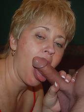 Tracy gives a cum garglin treat