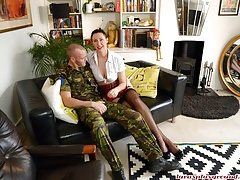 British Milf Lara Fucks a Young Soldier