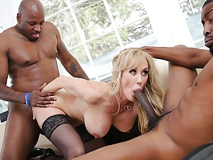 Brandi Love Interracial Threesome