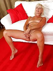 54 year old houswife Katie Hood looking elegant in her sexy red dress