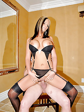 Round tittied milf phoenix gets pounded in these titty bouncing pics