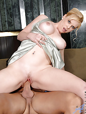 Charming Anilos Cameron Keys reveals her big tits and gets fucked hard by a hot stud on the couch