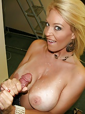When Charlee Chases hubby is away this sexy cougar will play, as long as its big and stiff Charlee will tug on it