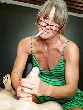 Smoking handjob with Leilani Lei from over 40 handjobs