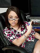 Kristina doesn\'t want to do their taxes. So she convinces her husband to do them the best way she knows how..with some fucking!