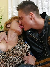 Sexy granny makes young lover go crazy with lust