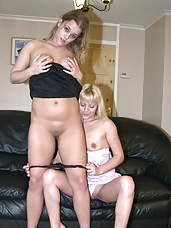 Lesbian lust takes over as debbie straps on a dildo