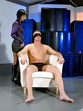 Blindfolded hotshot fucks
