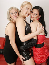 girly playtime with mature and younger sluts