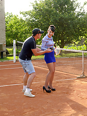 Horny tennis players sucked