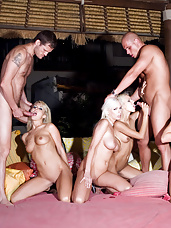 Four beauties having a crazy orgy in Ibiza