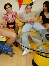 swinger handjob party