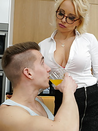 Blonde Office Slut